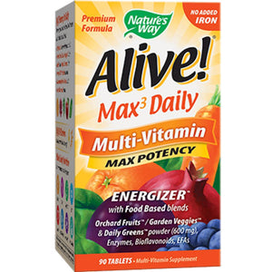 Nature's Way Alive! MultiVitamin no iron 90 tabs 14931 ME