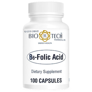 Bio-Tech B6Folic Acid Supports The Functioning Of Nervous System 100 Capsules ME