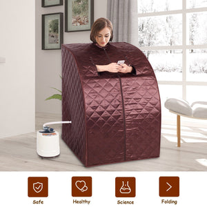 Portable 2L Steam Sauna with Chair Coffee