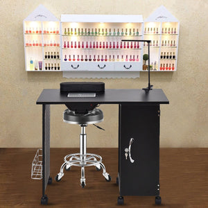 Deluxe Salon Steel Frame Manicure Table