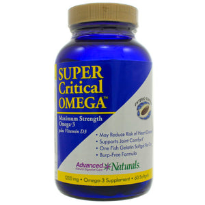 Advanced Naturals Super Critical Omega Support Heart Disease And Joint Comfort 60 Gels