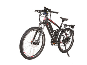 Xtreme Scooters Rubicon 48V Electric Mountain Bicycle Black W/ Red & White
