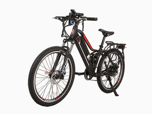 Xtreme Scooters Sedona 48V Electric Mountain Bicycle Black Wine Red & White