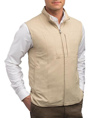 Scottevest RFID Travel Vest for Men with Zipper 26 Pockets Khaki Large - NutritionalInstitute.com