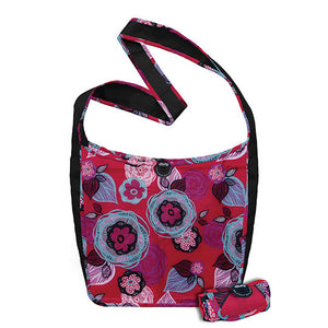 Chicobag Cross Body Bags Sidekick Flora, Boysenberry Bliss 233274 OC