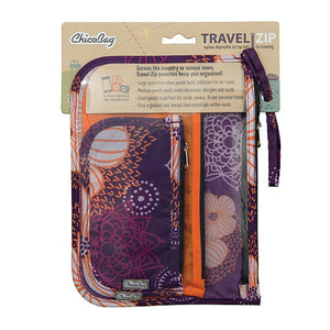 Chicobag Travel Zip Travel Zip, Flourish, Purple/Orange, 3 Count 233286 OC