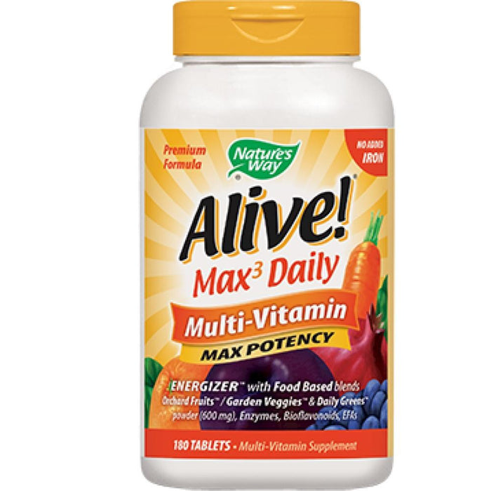 Nature's Way Alive! MultiVitamin no iron 180 tabs 14932 ME