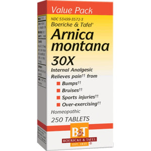 Boericke Tafel Arnica Montana Support Minor Muscle Or Joint Aches And Pain 30 X 250 Tablets - NutritionalInstitute.com