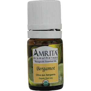 Amrita Aromatherapy Bergamot Helps Reduce Anxiety, Antiseptic, Tension Relieving 5 ml ME