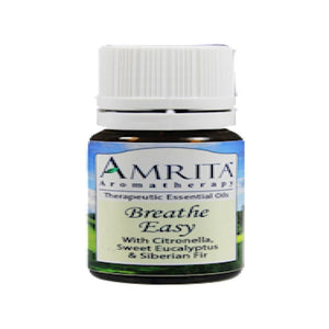Amrita Aromatherapy Breathe Easy Supports Effective Mucus Expulsion, Antiseptic, Respiration 10 ml ME