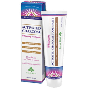 Activated Charcoal Toothpaste Mnt 5.1oz