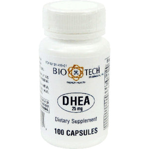 Bio-Tech DHEA Support Mental Health, Including Memory, Mood And Focus 25 Mg 100 Capsules ME