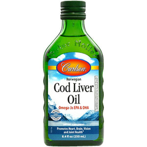 Carlson Labs Cod Liver Oil Regular Flavor Supporting Brain Health And Reducing The Risk Of Mental Disorders 250 Ml 1321 - NutritionalInstitute.com