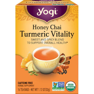 Honey Chai Turmeric 16 tea bags - NutritionalInstitute.com