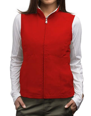 Scottevest RFID Travel Vest for Women with Zipper 18 Pockets Red Large - NutritionalInstitute.com