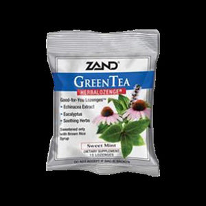 Zand Counter Display Herbal Supplement HerbaLozenge Green Tea with Echinacea 15 lozenges c ASD ME