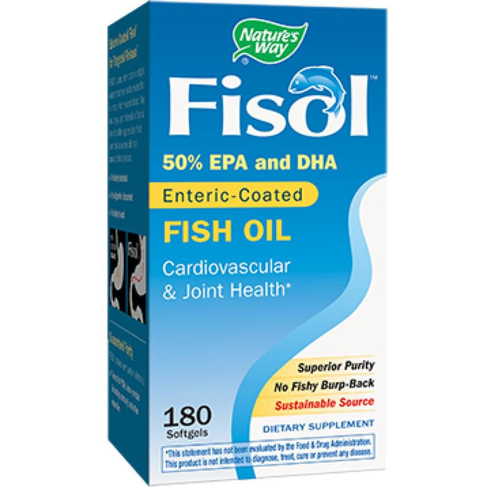 Nature's Way Fisol 500 mg 180 gels 15334 ASD ME