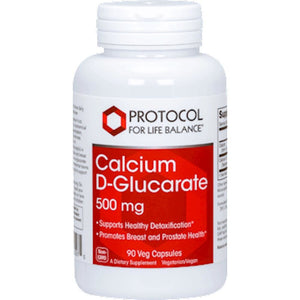 Protocol For Life Balance, Calcium Dglucarate, Soluble And Absorbable Than Other Forms Of Calcium, 500 Mg 90 Vegcapsules