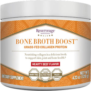 Reserveage Bone Broth Boost Powder Beef Support Skin, Joint And Bone Health 4.23 Ounce