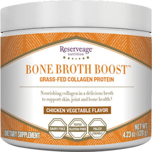 Reserveage Bone Broth Boost Powder Chicken Support Skin, Joint And Bone Health 4.23 Ounce
