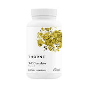 Thorne 3-K Complete Supports Strong Bones And Healthy Arteries 60 Capsulas