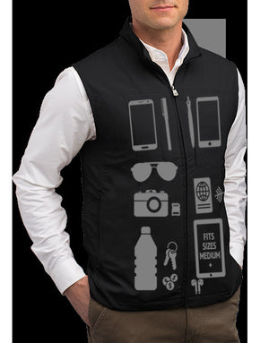 Scottevest RFID Travel Vest for Men with Zipper 26 Pockets Black Medium - NutritionalInstitute.com