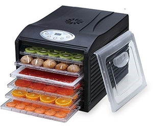Quiet Food Silent Dehydrator 6 trays With Digital Control Samson SB106B HNT