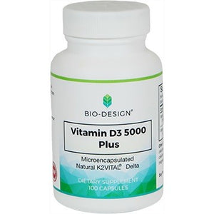 Biodesign Vitamin D3 5000 Plus Nat MK7 Supports Bone & Teeth Health 100 Caps EM