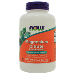 NOW Magnesium Citrate Pure Powder 8 Ounces NL0068 Exp.7.24 IHI