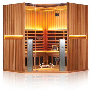Clearlight Sanctuary C 4 Person Full Spectrum Infrared Corner Sauna Basswood