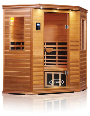 Clearlight Premier Is-C Three Person Corner Far Infrared Sauna Cedarwood