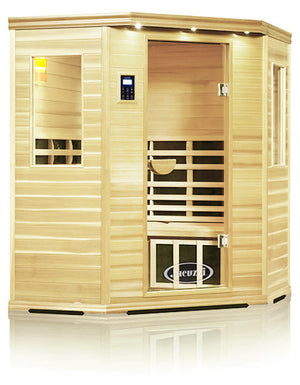 Clearlight Premier Is-C Three Person Corner Far Infrared Sauna Basswood