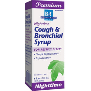 Boericke Tafel Nighttime Cough Bronchial Syrup Support Mucus And Drain Bronchial Tubes 8 Ounces - NutritionalInstitute.com