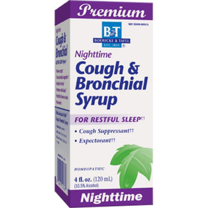 Boericke Tafel Nighttime Cough Bronchial Syrup Support Mucus And Drain Bronchial Tubes 4 Ounces - NutritionalInstitute.com