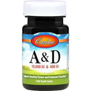 Carlson Labs Vitamin A & D 100 gels 1211 - NutritionalInstitute.com