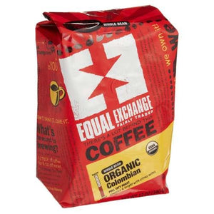 Equal Exchange Organic Colombian Whole Bean Coff 12 oz.219677 4 PACK SD OC