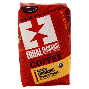 Equal Exchange Organic French Roast Whole Bean Coff 10 oz.219674 4 PACK SD OC