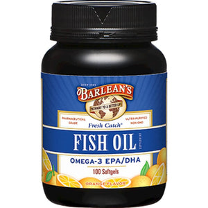 Barlean's Fresh Catch Fish Oil 1000 mg 100 gels BFOC100 ASD ME