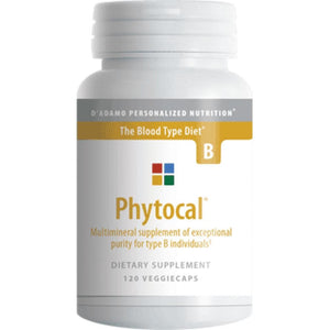 D'Adamo Personalized Nutrition Phytocal B 120 vcaps BT008B ASD ME