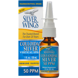 Natural Path Silver Wings Colloidal Silver 50PPM Vert. Spray 1 oz CSNS ME