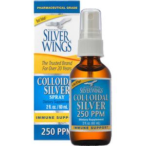 Natural Path Silver Wings Colloidal Silver 250 PPM 2 oz Spray CS1S ME