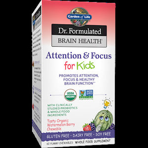 Garden Of Life Dr. Formulated Attention Kids 60 Tabs IHI ES