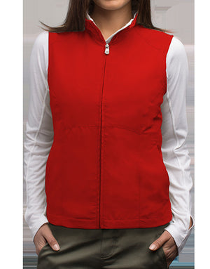 Scottevest - RFID Travel Vest Women w Zipper 18 Pockets Red Medium Clearance IHI