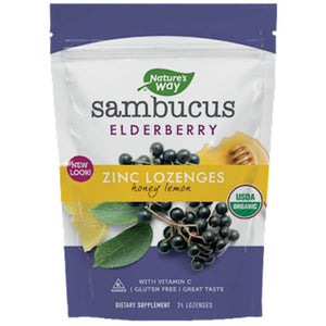 Nature's Way Sambucus Zinc Honey Lemon 24 loz 12089 SD - NutritionalInstitute.com