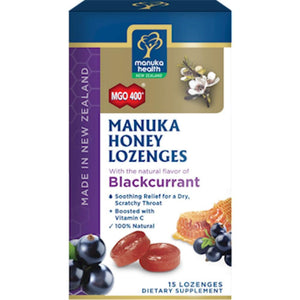 Manuka Health Manuka Honey Blackcurrent 15 lozenges 191 SD - NutritionalInstitute.com