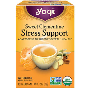 Yogi Teas Sweet Clementine Stress Support 16 bags 20698 SD