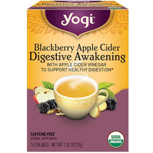 Yogi Teas Blackberry App Cid Digest Awake 16 bags 20699 SD