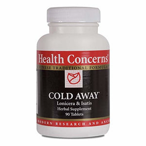 Health Concerns Cold Away Lonicera and Isatis Herbal Supplement 90 Tablets