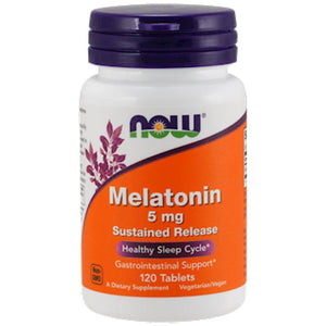 NOW Melatonin 5 mg 120 tabs 3554 SD