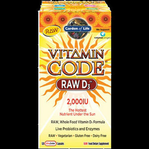 Garden of Life Vitamin Code RAW D3 120 Capsules 102011 SDG NP